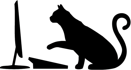 Sneakers Computers cat on a computer logo